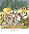 Cartoon: Sasquatch Skins (small) by noodles tagged sasquatch,bigfoot,drums,foot,pedals,percussion