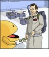 Cartoon: Who Ya Gonna Call? (small) by noodles tagged ghostbusters,pacman,video,game