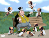 Cartoon: sparrows (small) by zule tagged hunger,children,rich,man