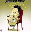 Cartoon: Atomic Baby (small) by NEM0 tagged kim,jong,ill,jon,un,atom,atomic,bomb,plutonium,noth,korea