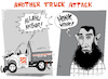 Cartoon: NY Truck Attack (small) by NEM0 tagged new,york,truck,attack,gun,free,zone,immigration,vetting,terrorist,terrorism,war,on,terror,radical,islamist,home,depot,political,correctness,sayfullo,saipov,fbi,diversity,visa,is,isis,islamic,state