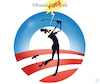 Cartoon: Obama Farewell (small) by NEM0 tagged barack,obama,farewll,golf,fore,goof,vacation,hawai,liar,lies,worst,us,usa,president,administration,nemo,nem0