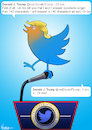 Cartoon: Twitterer of the United States (small) by NEM0 tagged donald,trump,tweet,twitter,internet,social,media,network,realdonaldtrump,communications,technology,smartphone,press,conference,journalism,journalist,nemo,nem0