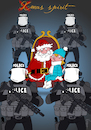Cartoon: Xmas Spirit (small) by NEM0 tagged berlin,germany,christmas,terror,truck,attack,santa,clauss,police,xmas,breitscheidplatz,nemo,nem0