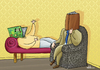 Cartoon: Book (small) by elihu tagged book,elihuduayer,cartoon,freud,psychoanalysis,psychology