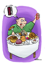 Cartoon: Calories (small) by elihu tagged calories,food,coca,cola,elihu