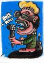 Cartoon: Tralalala! (small) by Battlestar tagged rock,gaudi,singen,singstar,typ
