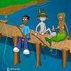 Cartoon: Gone Fishing (small) by Shantrey17 tagged dynomite,johnson,good,advice