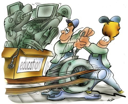 Cartoon: education (medium) by HSB-Cartoon tagged education,econemy,engenie,market,employee,employer,plant,office,factory,job,energy,employment,skill,career,hsbcartoon,education,econemy,engenie,market,employee,employer,plant,office,factory,job,energy,employment,skill,career,hsbcartoon