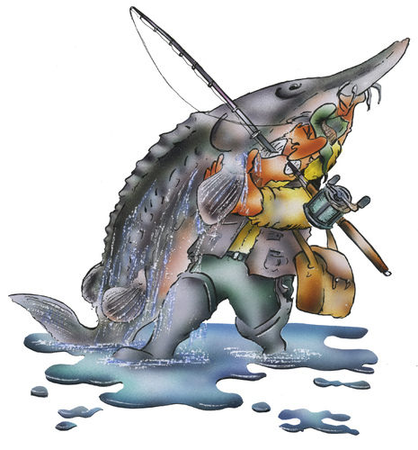Cartoon: fishing (medium) by HSB-Cartoon tagged fish,fishing,angeln,angelsport,water,sea,hook,stör,beluga,fisch,fischen,angler,airbrush,airbrushzeichnung,airbrushmotiv,airbrushillustration,fish,fishing,angeln,angelsport,water,sea,hook,stör,beluga,fisch,fischen,angler,airbrush,airbrushzeichnung,airbrushmotiv,airbrushillustration