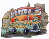 Cartoon: bus (small) by HSB-Cartoon tagged bus,people,passanger,traffic,town