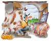 Cartoon: Glasfaserausbau (small) by HSB-Cartoon tagged glasfaser,glasfaserausbau,glasfaseranschluß,breitband,breitbandausbau,landwirt,landwirtschaft,agrar,kuhstall,kuh,schweine,bauernhof,landhaus,stall,pc,internet,surven,cartoon,karikatur,internetversorgiung,url,www,telekommunikation,telekom