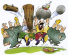 Cartoon: Highland Games (small) by HSB-Cartoon tagged schotte,schotland,scotland,highland,highlandgames,games,schottenrock,kilt,wood,stone,whiskey,scotisch,cartoon,caricature,airbrush