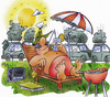 Cartoon: holiday (small) by HSB-Cartoon tagged holiday,urlaub,car,sun,auto,verkehr,sonne,ferien,home,zuhause