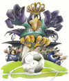 Cartoon: Preußen Adler (small) by HSB-Cartoon tagged scp,preußen,münster,fußball,soccer,eagle,adler,ball,player,spieler,goal,tor,king,könig,cartoon,caricature,maskottchen,hsb,airbrush