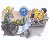 Cartoon: Radwege (small) by HSB-Cartoon tagged straße,wege,radweg,radfahrer,schild,sign,fahrrad,bike,verkehr,traffik,traffic,recht,ordnung,cartoon,karikatur,hsbcartoon,design,art,airbrush