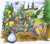 Cartoon: Tannebaum (small) by HSB-Cartoon tagged tanne,tannebaum,weihnachten,advent,wald,natur,säge