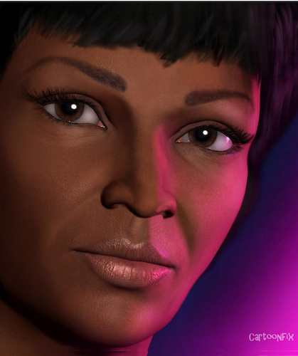 Cartoon: Uhura - Nichelle Nichols (medium) by Cartoonfix tagged uhura,nichelle,nichols,star,trek,raumschiff,enterprise