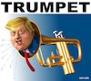 Cartoon: Trumpet (small) by Cartoonfix tagged trump,wahlen,2020