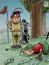Cartoon: cuestion de medidas (small) by Wadalupe tagged golf,jugador,medidas,green,primer,hoyo,augusta,caddie,path,bunker,topografo