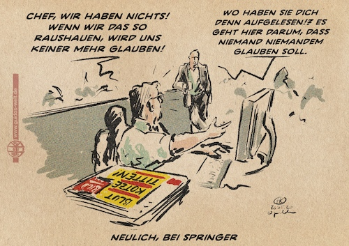 Cartoon: Vertrauen (medium) by Guido Kuehn tagged springer,bild,drosten,journalismus,springer,bild,drosten,journalismus