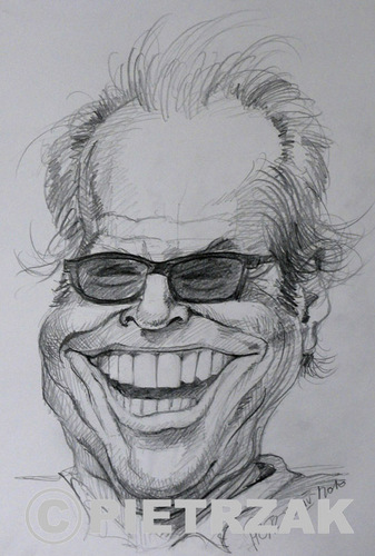 Cartoon: Jack Nicholson (medium) by Darek Pietrzak tagged nicholson,jack,caricature,film