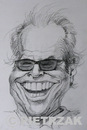 Cartoon: Jack Nicholson (small) by Darek Pietrzak tagged nicholson jack caricature film