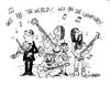 Cartoon: We are the world (small) by ismailozmen tagged music,ismail,özmen