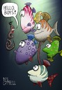 Cartoon: Gone fishing (small) by campbell tagged worm,fish,fishing,underwater