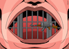 Cartoon: Censorship (small) by EnricoBertuccioli tagged censorship,freedom,expression,free,speech,democracy,despotism,dictatorship,military,political,authoritarianism,threat,oppression,journalism,cartoonists,power,control,securitysociety,people