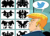 Cartoon: Trump psychological test (small) by EnricoBertuccioli tagged trump,potus,usa,government,twitter,political,psychology,psichiatry,mental,disease,test,obsession,addiction,health,disorder,ego,narcissism,personality,egocentric,egocentrism,authoritarianism,democracy,conservatism,republican,gop,media,social,society,communication,propaganda