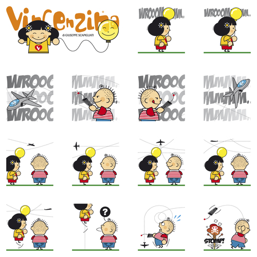 Cartoon: Vincenzina T 4 (medium) by Giuseppe Scapigliati tagged strip