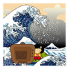 Cartoon: Vincenzina Katsushika Hokusai (small) by Giuseppe Scapigliati tagged strip