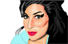 Cartoon: she was really beautiful (small) by caminante tagged amy,winehouse