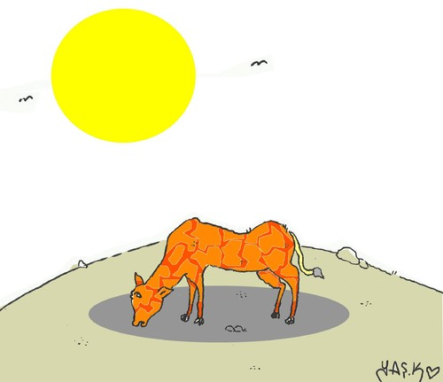 Cartoon: drought (medium) by yasar kemal turan tagged drought