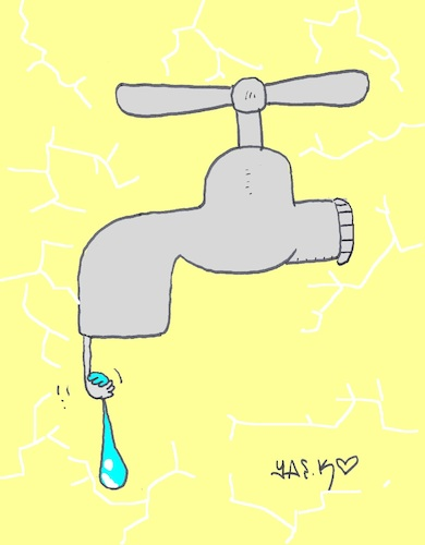 Cartoon: final water drop (medium) by yasar kemal turan tagged final,water,drop