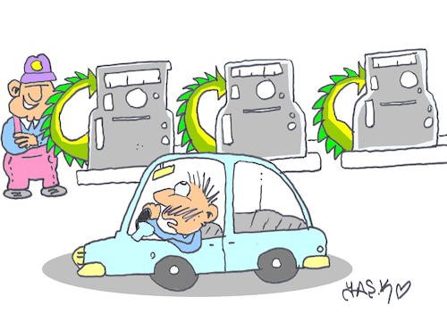 Cartoon: gas pump (medium) by yasar kemal turan tagged gas,pump