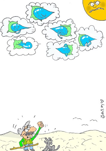 Cartoon: lethargic rains (medium) by yasar kemal turan tagged lethargic,rains