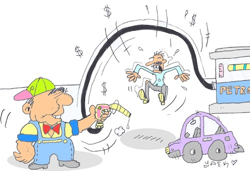 Cartoon: petrol (medium) by yasar kemal turan tagged petrol