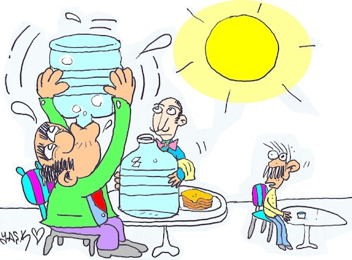 Cartoon: respect for water (medium) by yasar kemal turan tagged respect,for,water