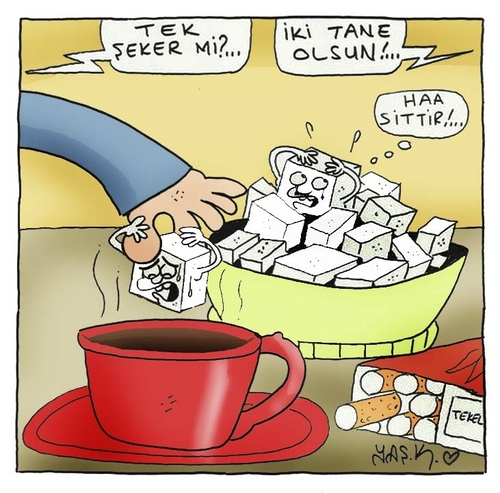 Cartoon: 1-2-3-4-5-6-7-8-9-10 (medium) by yasar kemal turan tagged sugars