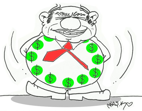 Cartoon: time to profit (medium) by yasar kemal turan tagged time,to,profit