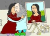 Cartoon: after!! (small) by yasar kemal turan tagged after leonardo da vinci love sex mona lisa smooch shag