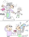 Cartoon: Bottle Cap Challenge (small) by yasar kemal turan tagged bottle,cap,challenge