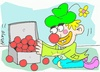 Cartoon: clown (small) by yasar kemal turan tagged clown,love