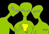 Cartoon: great review (small) by yasar kemal turan tagged great review ufo love pears alien
