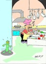 Cartoon: insidious enemy (small) by yasar kemal turan tagged insidious,enemy,salat,secure,cucumber,ehec,tarz,other
