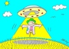 Cartoon: liberation (small) by yasar kemal turan tagged liberation,railing,ufo