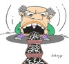 Cartoon: Mining in Turkey (small) by yasar kemal turan tagged mining,in,turkey