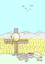 Cartoon: sacrificed-disappearance (small) by yasar kemal turan tagged disappearance,railing,love